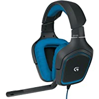 Logitech G430 Over-Ear 3.5mm Wired Gaming Headphones (Black)