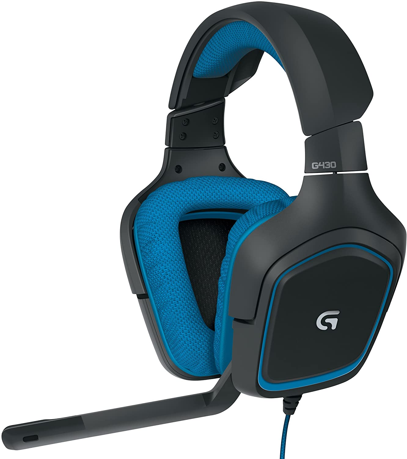 Amazon Com Logitech 981 000536 G430 7 1 Gaming Headset With Mic Computers Accessories