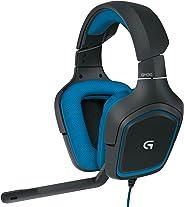 Fone de Ouvido para Jogo com Som Surround 7.1 Logitech G430