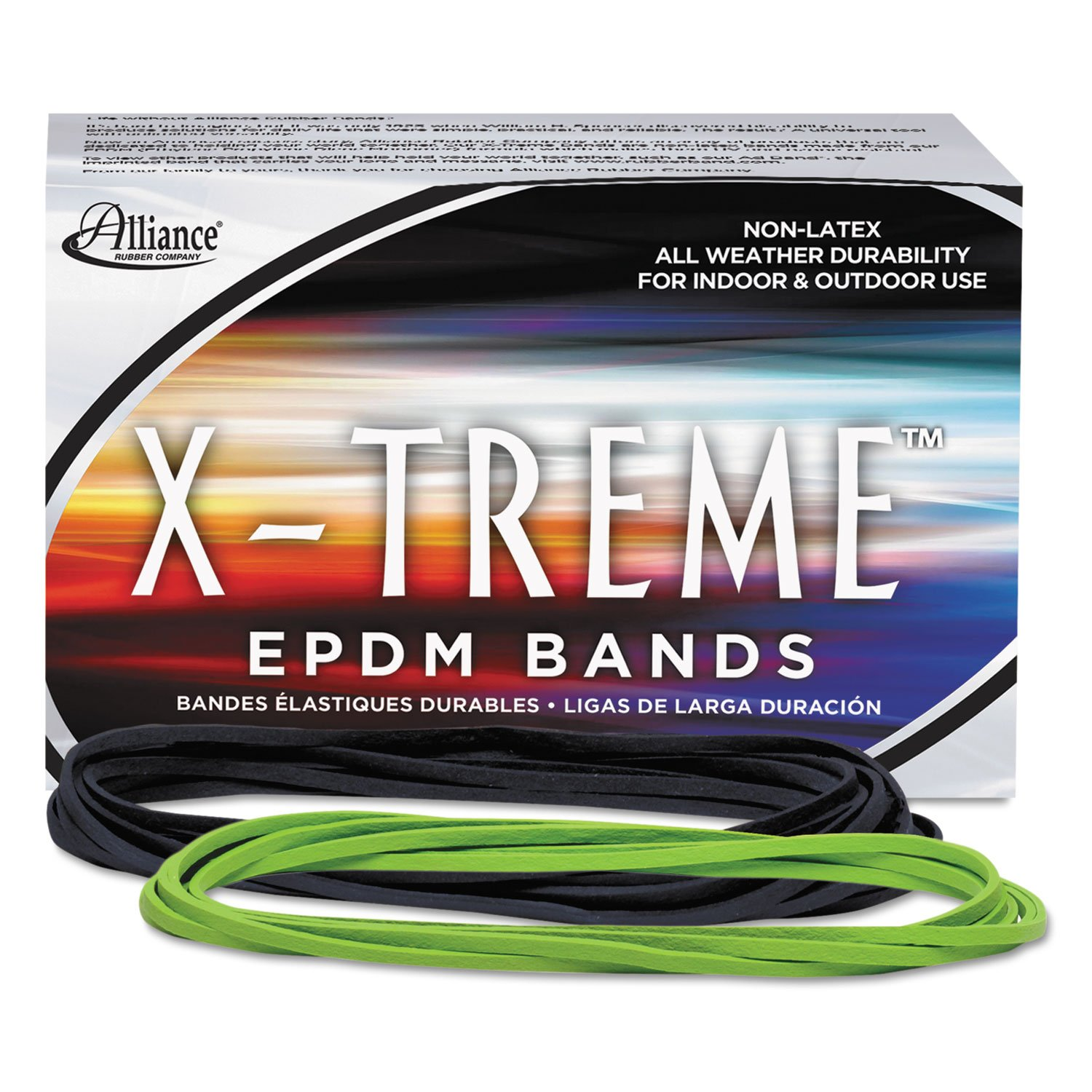 Alliance 02005 X-treme File Bands, 117B, 7 x 1/8, Lime Green, Approx. 175 Bands/1lb Box