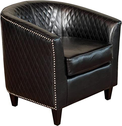 Christopher Knight Home Mia Bonded Leather Quilted Club Chair