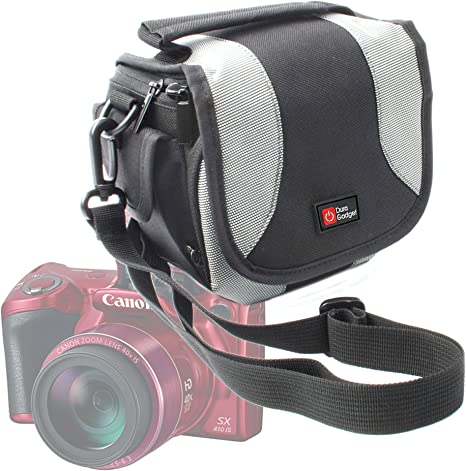 Compatible with Sony SLR Cameras DURAGADGET Black Double Security Strap