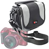 DURAGADGET Portable Camera Bag for Canon Rebel T6s, T6i/EOS M3, 760D, 750D/PowerShot SX410 IS/SX530 HS Bridge Camera/IXUS 275 HS -with Padded Interior, Multiple Pockets And Shoulder Strap –