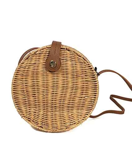 a4f5911d1e Zara Women's Round raffia crossbody bag 6382/304: Amazon.co.uk: Clothing
