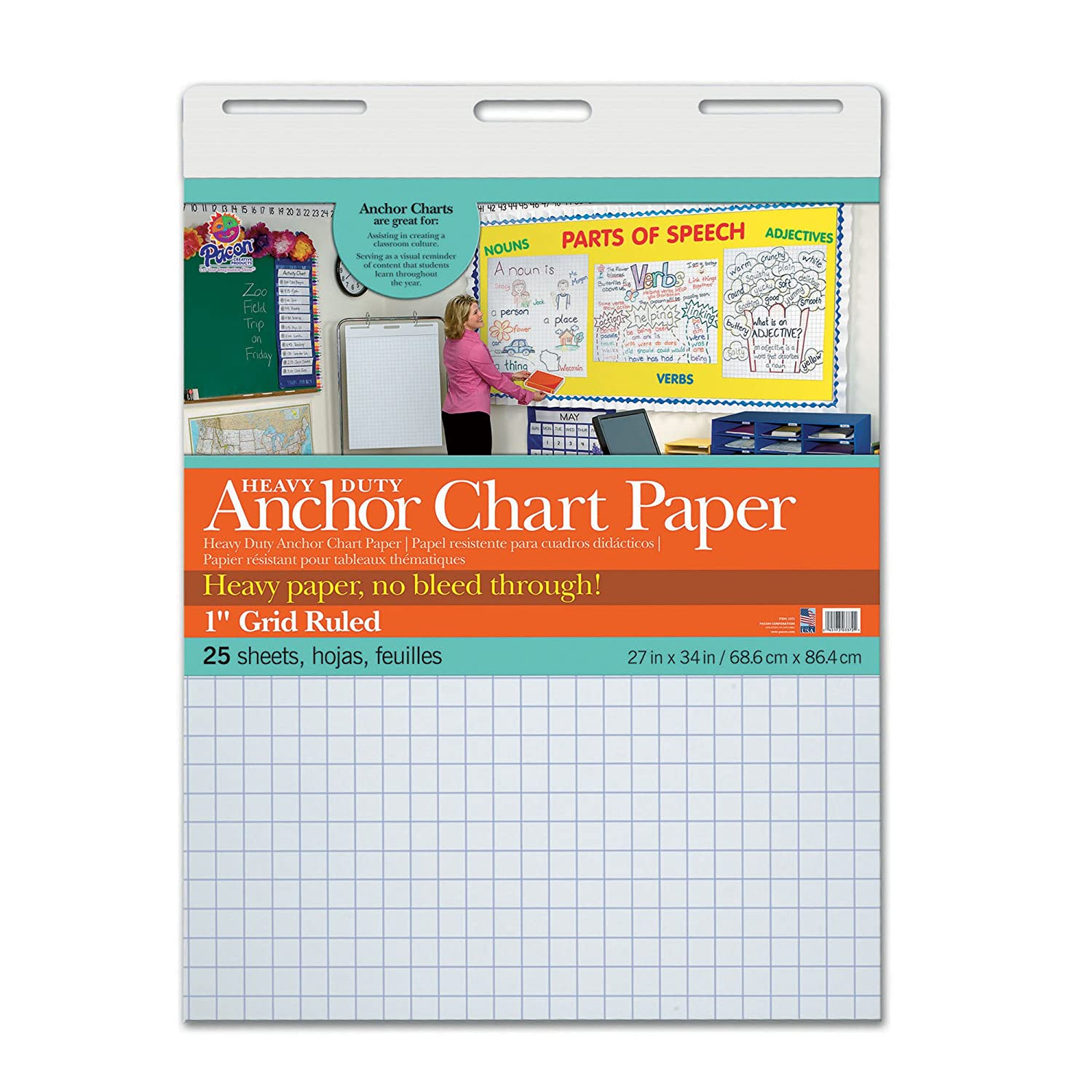 Amazon.com: Pacon PAC3372 Heavy Duty Anchor Chart Paper, 1\