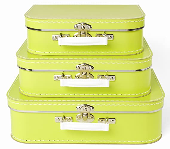 eece21089456 Amazon.com: Bigso Children's Suitcase, Lime, Set of 3: Kitchen & Dining