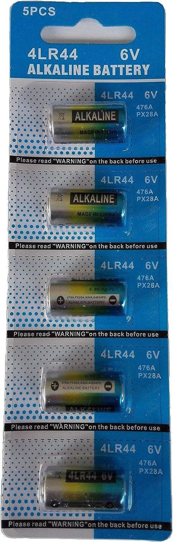 EX-ENEGY 4LR44 476A PX28A 6V Alkaline Batteries 5 Pack