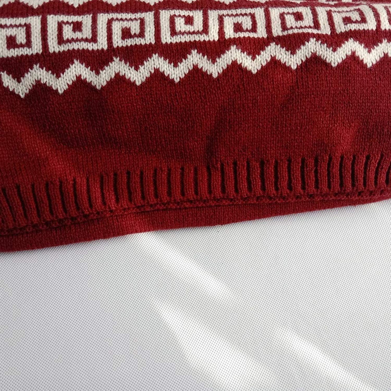 Christmas Scarf Women Scarf Knit Snowflake Elk Winter Thick Keep Warm Long Scarf