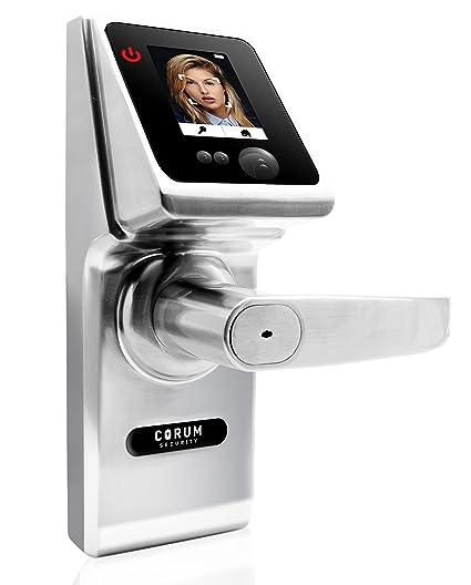 Corum Security Face Lock 1.0 Biometric Keyless 4 In One Facial Recognition Smart  Door