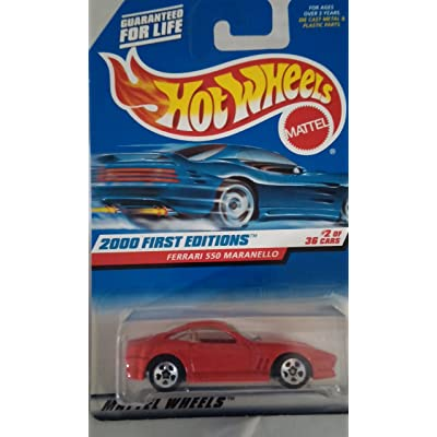 Hot Wheels 2000-062 First Editions RED Ferrari 550 Maranello 1:64 Scale: Toys & Games