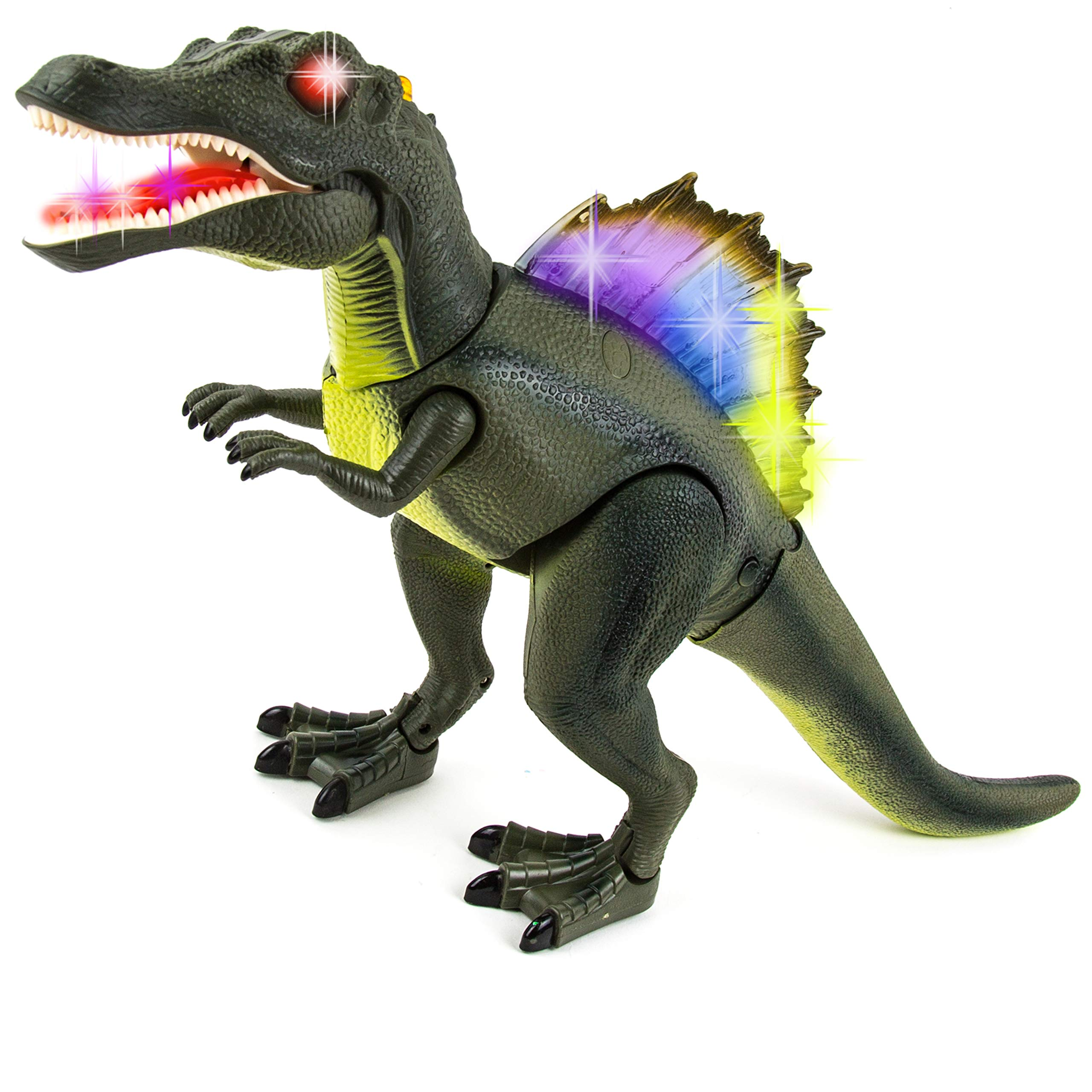 Toysery Remote Control Dinosaur Toy for Kids | RC Walking Realistic Dinosaur | Toy Roars, Lights & Sounds | Fast Forward Function | Ultimate Fun for Kids by Toysery (Image #2)