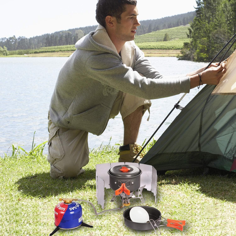 En aluminium pliable cuisine ext/érieure R/échaud de camping REDCAMP pique-nique Pour barbecue Pare-brise pour r/échaud /à gaz randonn/ée 9 // 10 // 12 plaques