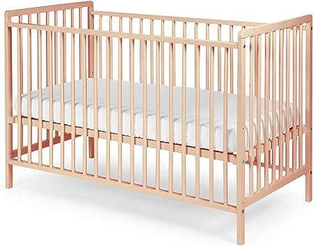 Bebé Cuna Cuna – cama infantil (Madera de Haya con somier 120 ...