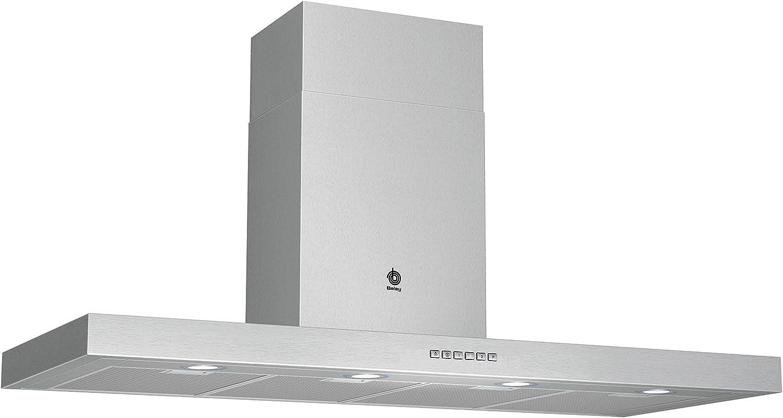 Balay 3BC8124XM - Campana (Montado en pared, Canalizado/Recirculación, C, Halógeno, Acero inoxidable, Aluminio): Amazon.es: Grandes electrodomésticos