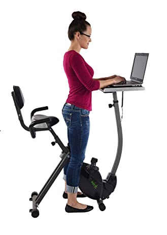 Amazon.com : Wirk Ride Exercise Bike Workstation And Standing Desk : Sports  U0026 Outdoors