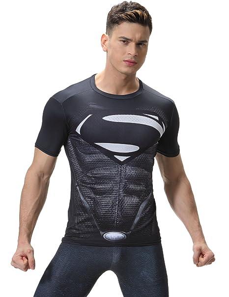 Red Plume Mens Film Super-Hero Diamond Logo Sports Black Shirt Running Party Short Sleeve