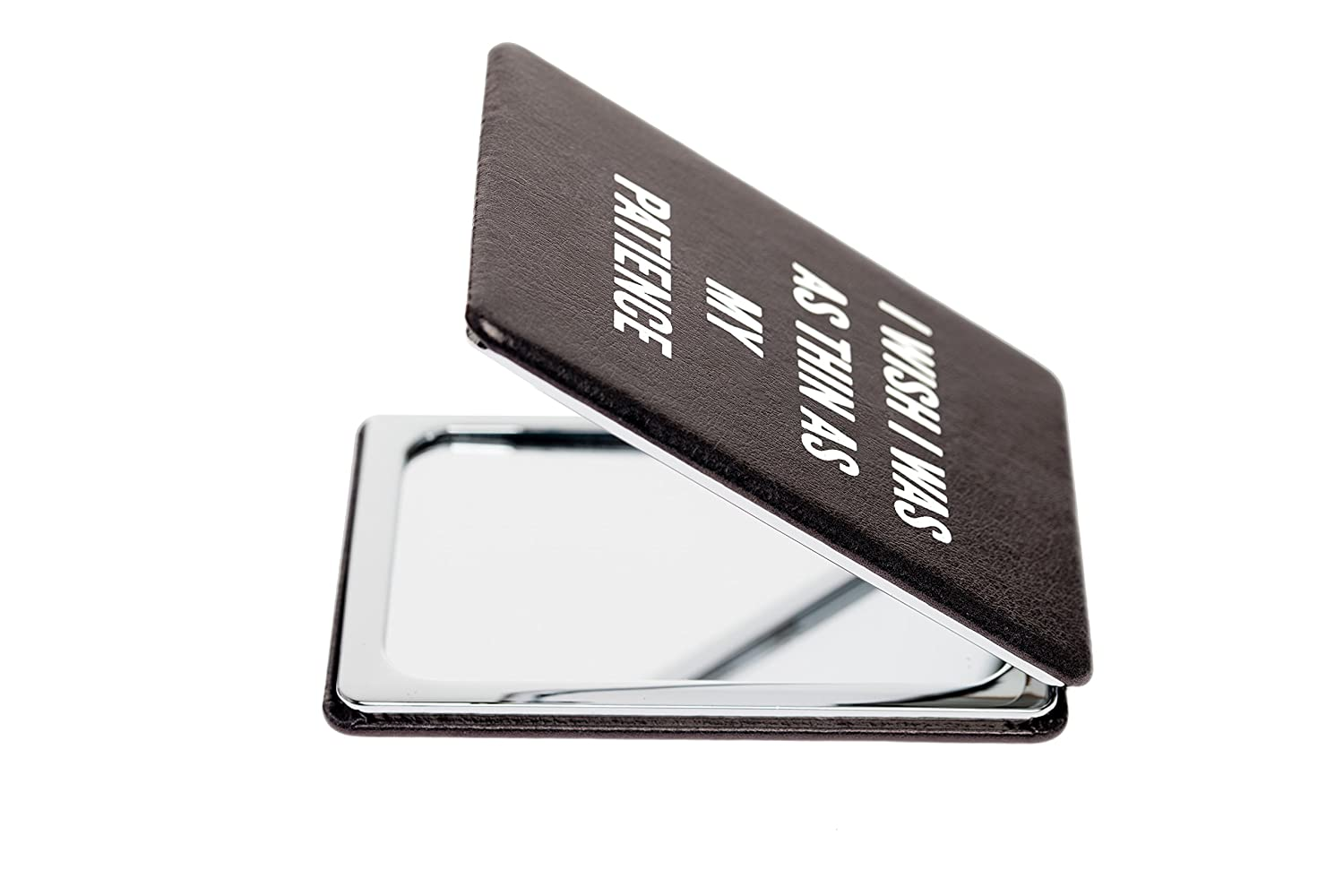 Snark City s Double Sided Compact Mirror I WISH I WAS AS THIN AS MY PATIENCE 2xMagnification Standard Mirror, Pocket-Size, Perfect for Purse and Travel Sarcastic, Funny and a bit Sassy