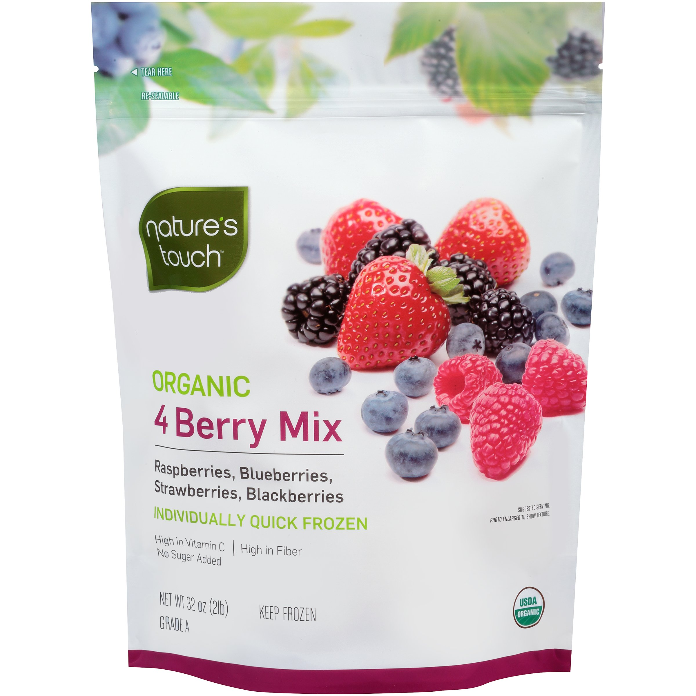 Nature's Touch Organic Fruit, 4 Berry Mix 32 oz. (6 Count)