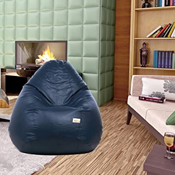 Sattva Classic Bean Bag filled with beans - XXXL Size - Navy Blue Colour