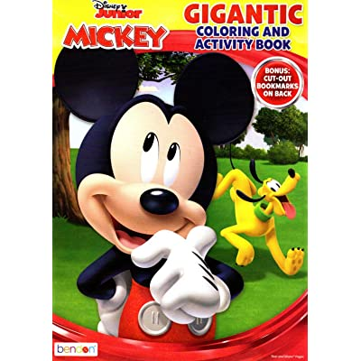 Disney Junior Mickey & Minnie Mouse - Gigantic Coloring & Activity Book - 200 Pages: Toys & Games