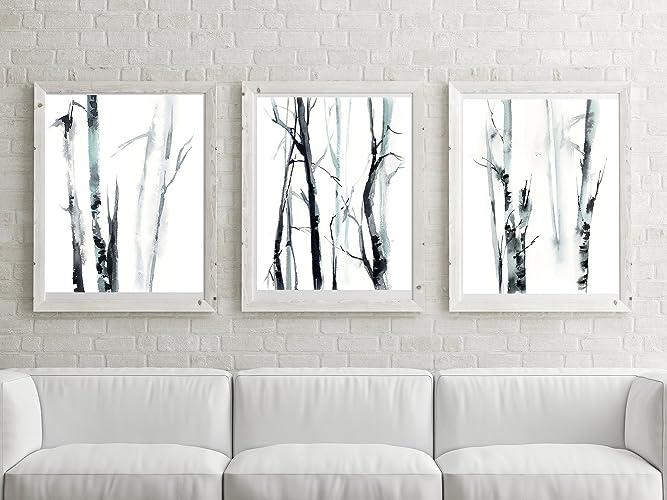 Amazon Com Forest Minimalist Art Prints Set 3 Fine Art Prints