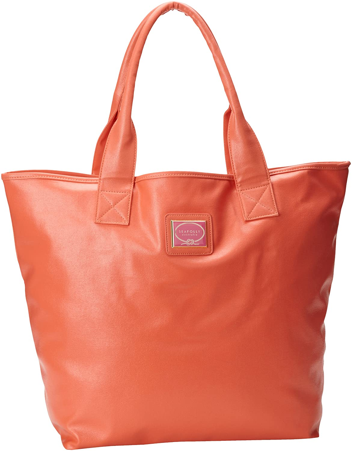 Amazon.com: Seafolly Women's Shine On Tote Bag, Coral, One Size ...