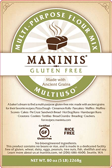 Amazon Com Maninis Ancient Grains Gluten Free Multi Purpose Flour Mix 5lb Bag Wheat Flours And Meals Grocery Gourmet Food