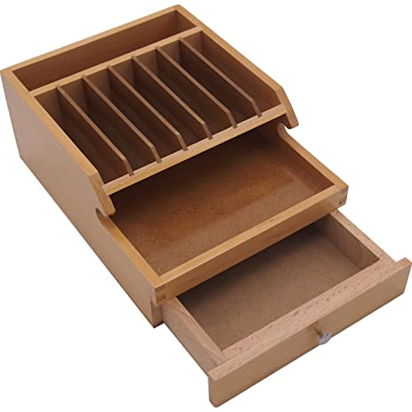 Wood Jewelers Bench Tool Organizer w/ Extra Compartment Jewelry Beading Storage  sc 1 st  Amazon.com & Amazon.com: Wood Jewelers Bench Tool Organizer w/ Extra Compartment ...