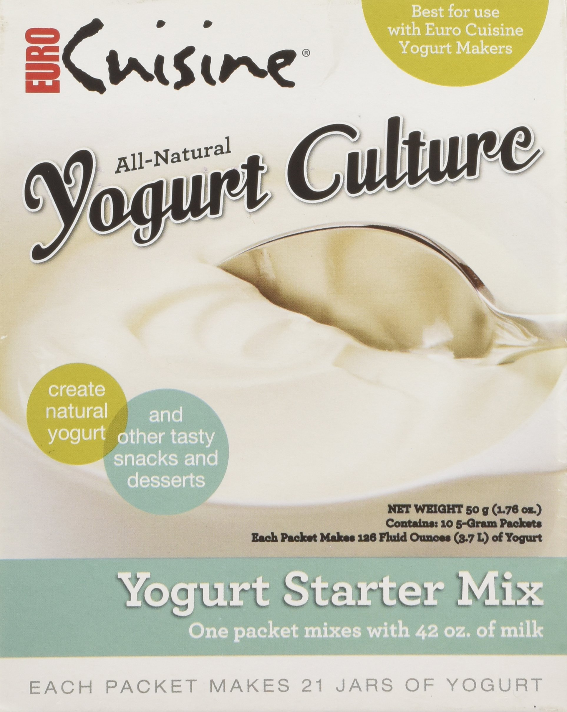 Euro Cuisine RI1020 All Natural Yogurt Culture / Starter ( Contains 10 - 5gr Packet) by Euro Cuisine (Image #1)