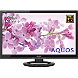 シャープ 22V型 液晶 テレビ AQUOS LC-22K45-B フルハイビジョン 外付HDD対応(裏番組録画) ブラック