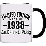 Mug 1938-80th Birthday Gifts Limited Edition Made In 1938 All Original Parts Coffee Mug-1938-0069-Black