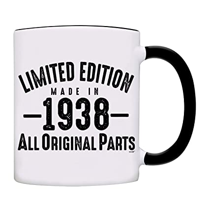 80th Birthday Gift Gifts For Men Women 1938 Vintage Bourbon Coffee Mug Christmas