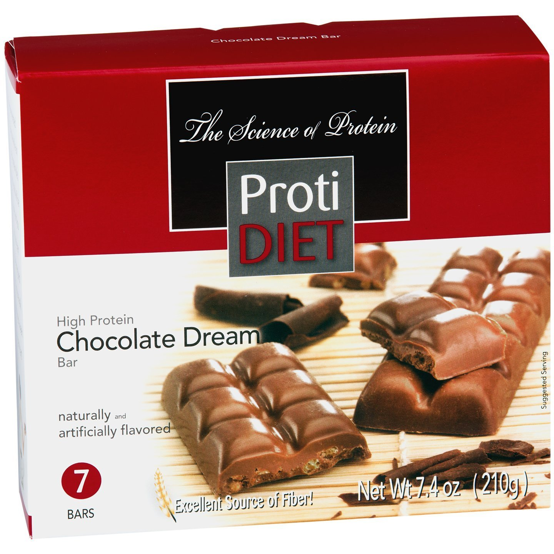 ProtiDiet Barra de sueño de chocolate con alto contenido de ...