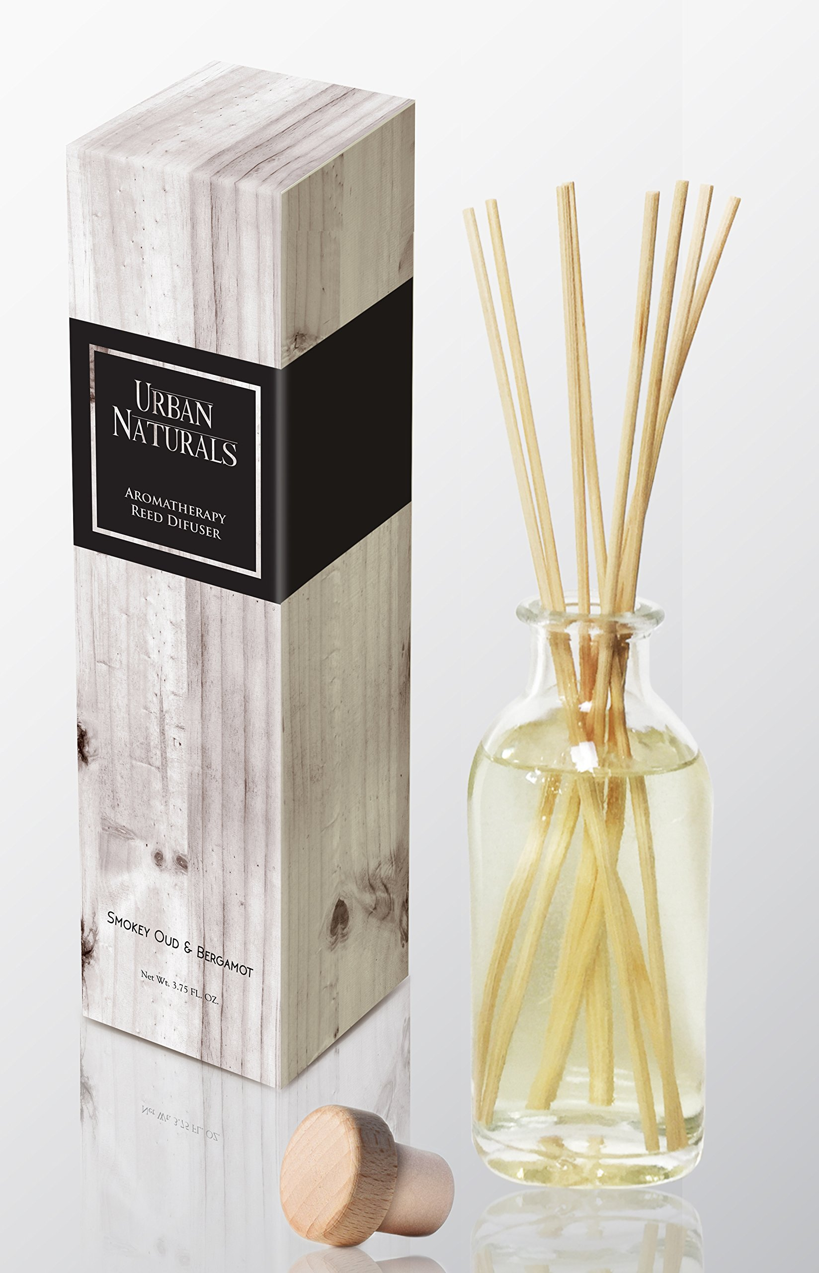 Urban Naturals Smoky Oud & Bergamot Reed Diffuser   Leather, Tobacco, Amber & Wood Notes by Urban Naturals (Image #1)
