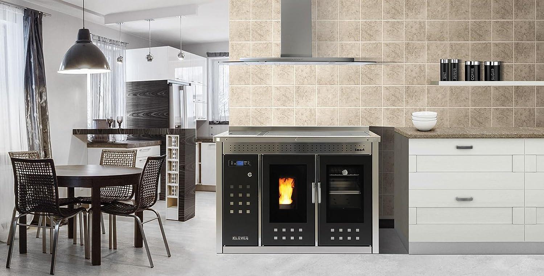 Klover Cocina termocucina a Pellets Smart 120 inoxidable Calefacción Sistema manera Agua Sanitaria: Amazon.es: Industria, empresas y ciencia