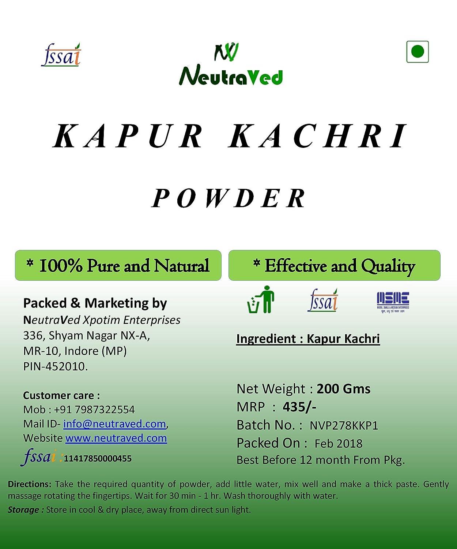 NeutraVed Kapoor kachri Powder - (200 Gm)