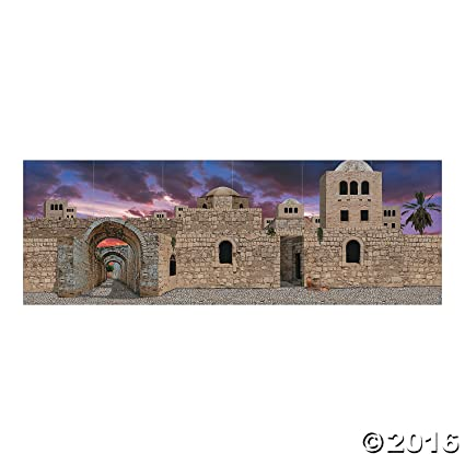 Amazon Com 18 Ft X 6 Ft Scene To Bethlehem Backdrop Banner Toys