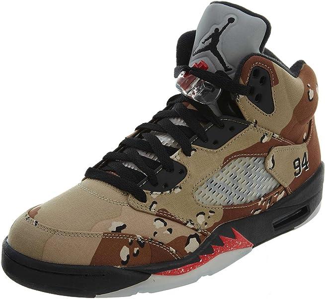wholesale dealer a7861 0f139 Nike Herren Air Jordan 5 Retro Supreme Turnschuhe, Braun Grau  (Bambus Schwarz-
