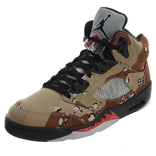 Nike Air Jordan 5 Retro Supreme, Zapatillas de Deporte para Hombre: Amazon.es: Zapatos y complementos