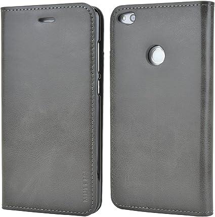 Mulbess Funda Huawei P8 Lite 2017 [Libro Caso Cubierta] Slim de Billetera Cuero Carcasa para Huawei P8 Lite 2017 Case, Gris: Amazon.es: Electrónica