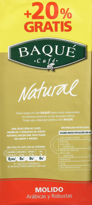 Cafés Baqué Café Molido Natural - 300 gr - [Pack de 12]: Amazon.es ...