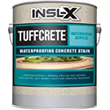 INSL-X CST211009A-01 TuffCrete Waterborne Acrylic Concrete Stain Paint, 1 Gallon, White