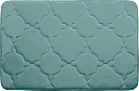 Amazon Com Dorothy Premium Extra Thick Memory Foam Bath Mat With Bouncecomfort Technology 20 X 32 Marine Blue Home Kitchen
