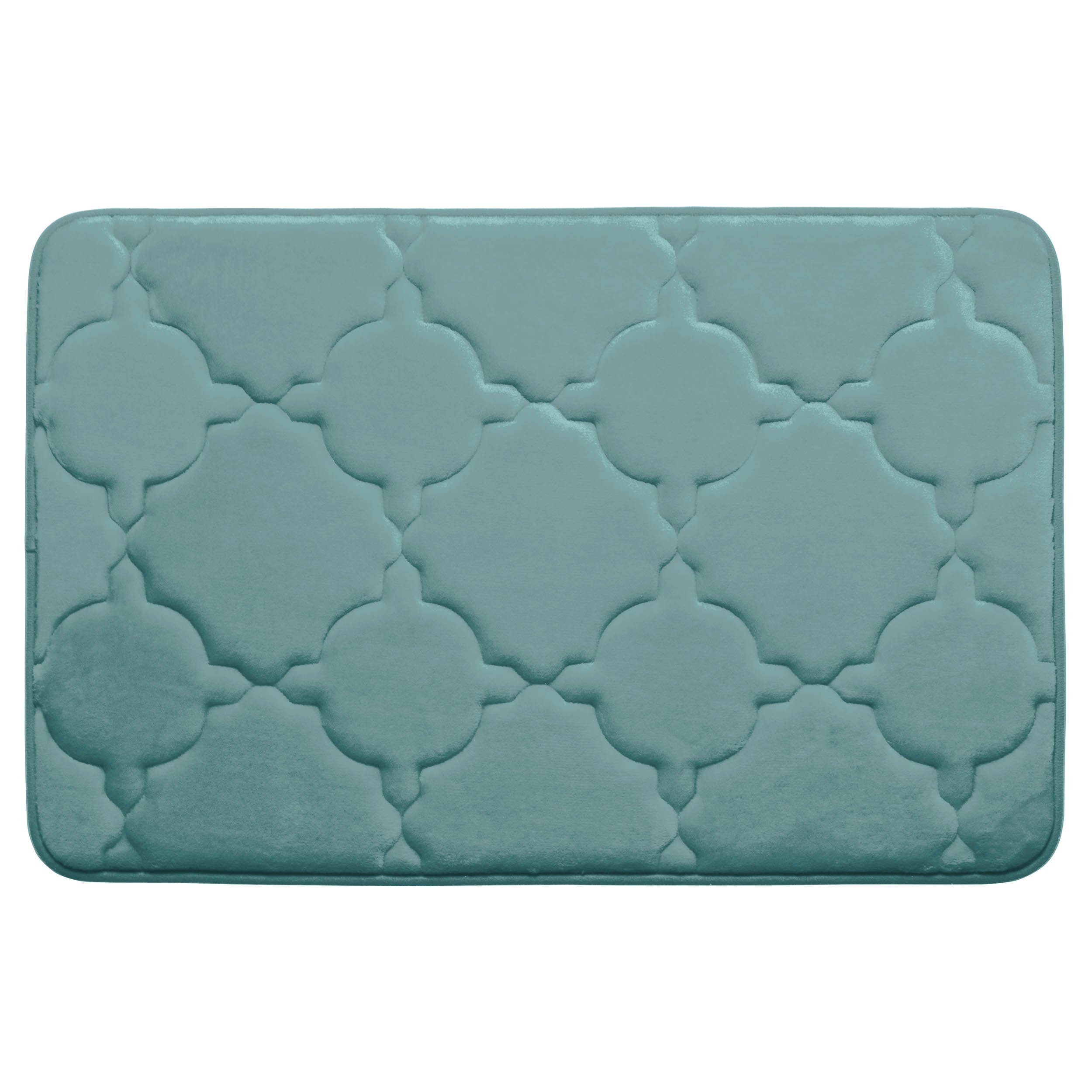 Dorothy Premium Extra Thick Memory Foam Bath Mat with BounceComfort Technology, 20'' x 32'' Marine Blue