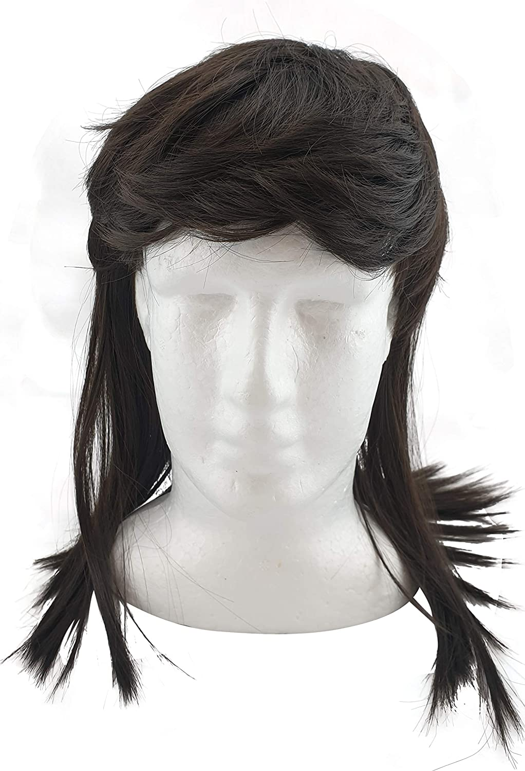 HandinHandCreations Mullet Wig for Men 70s 80s Costume Hippie Free American Lok Quality Wigs