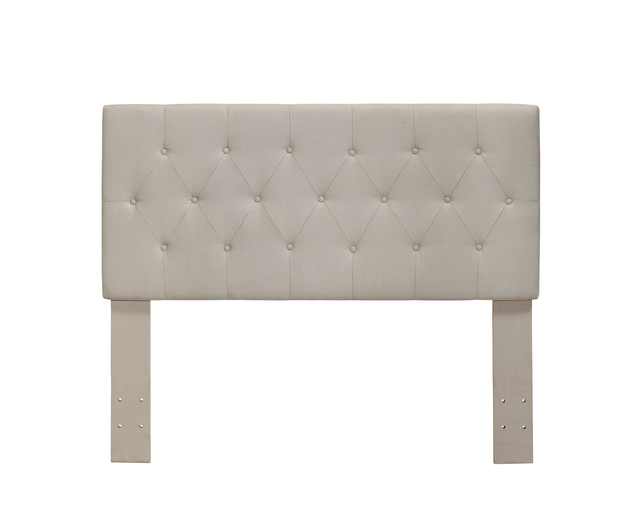 Furniture of America Gardenia Button Tufted Fabric Headboard, Twin, Ivory by Furniture of America
