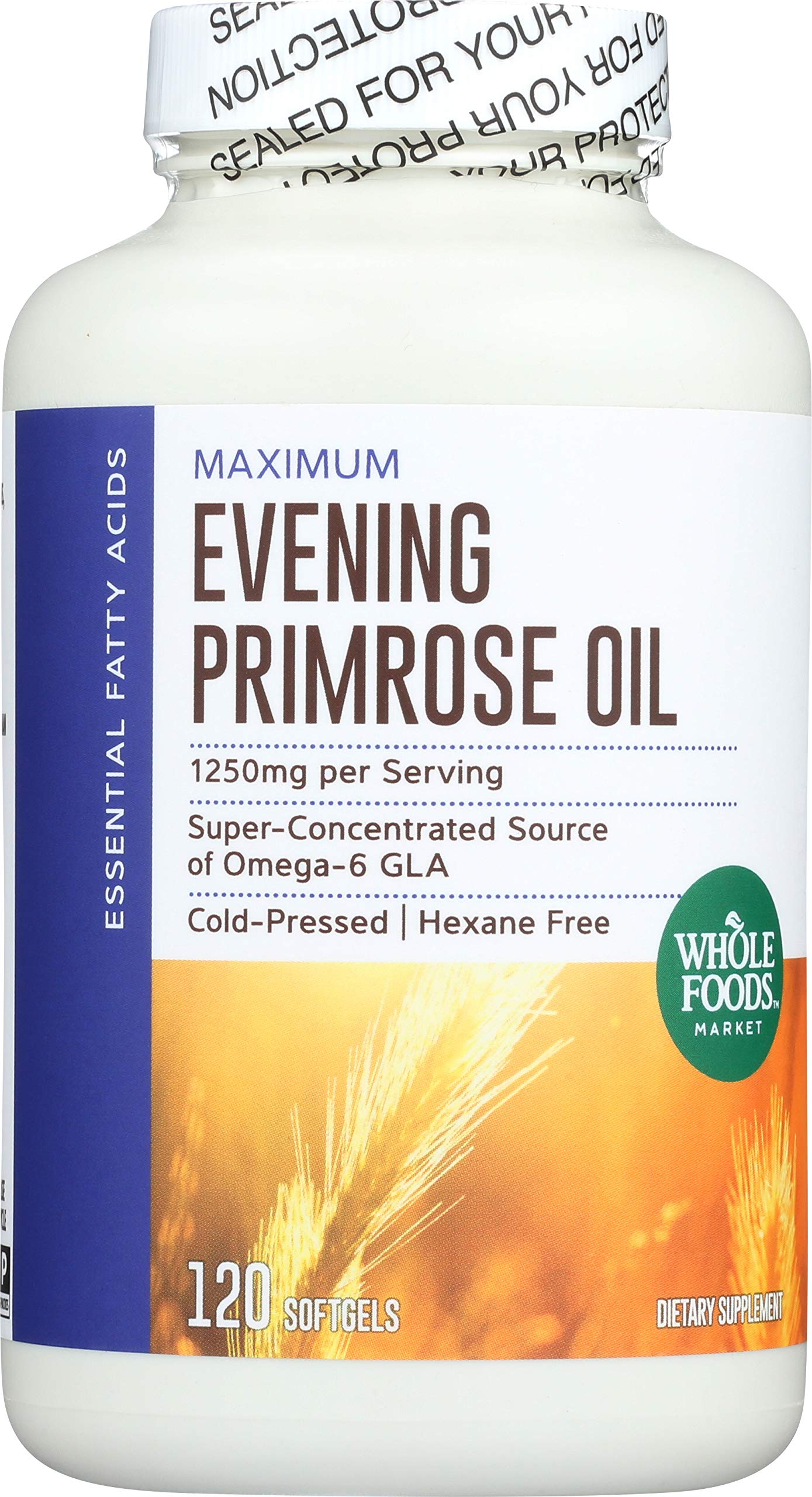 Whole Foods Market, Evening Primrose Oil 1250mg, 120 ct