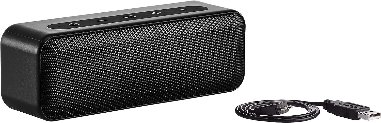 AmazonBasics 15-Watt Bluetooth Stereo Speaker with Water Resistant Design - Black