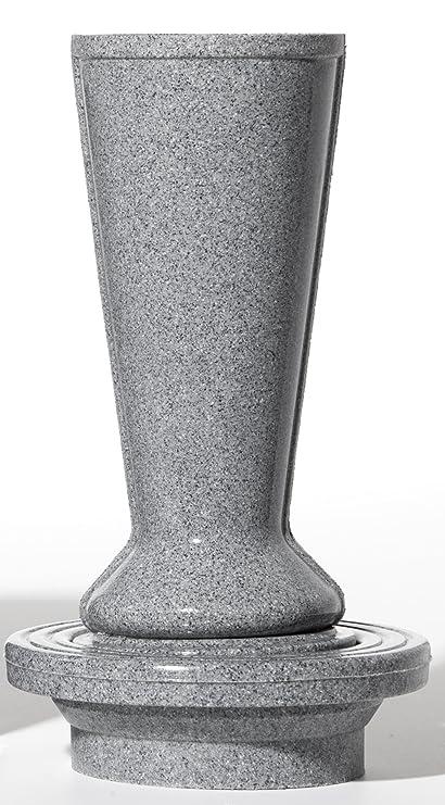 Amazon Cemetery Flower Vase Canister Set Grey Granite