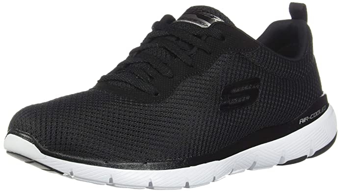 Skechers Flex Appeal 3.0 Sneakers Damen Schwarz/Weiß (Black/White)